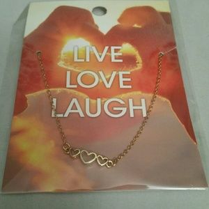 """💲3 items for $10 """"Live, Laugh, Love"""" Necklace"""